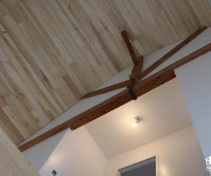 Plafond lambris peuplier